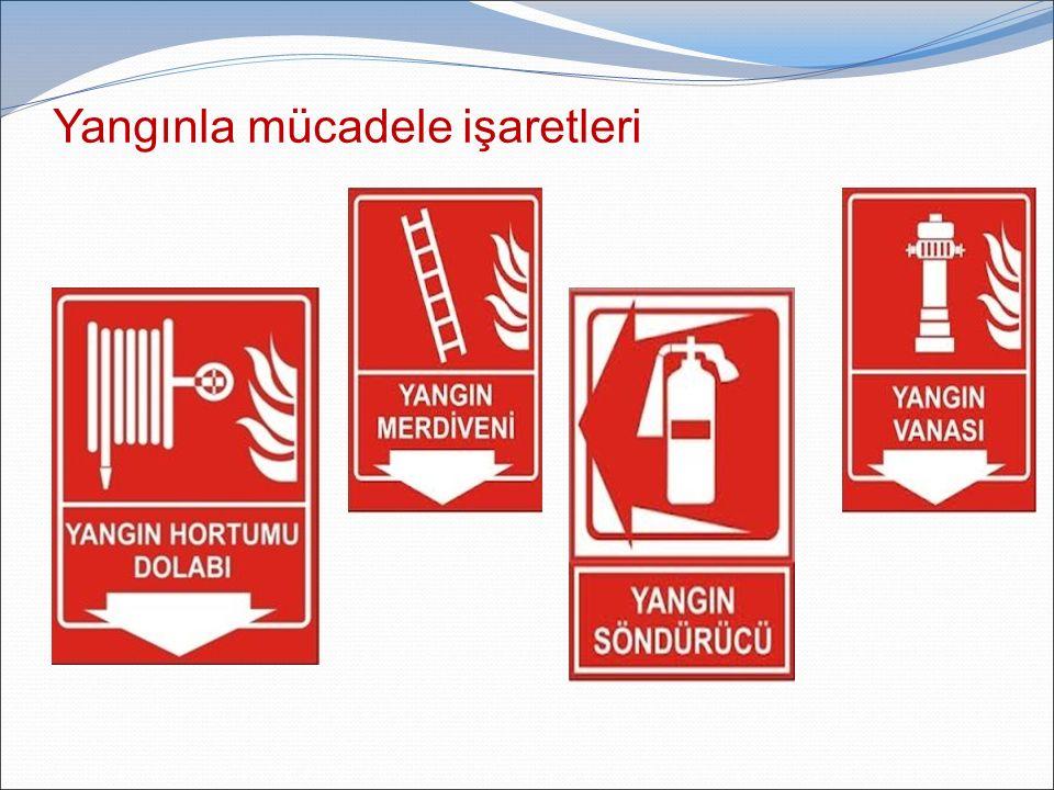Yangınla mücadele işaretleri