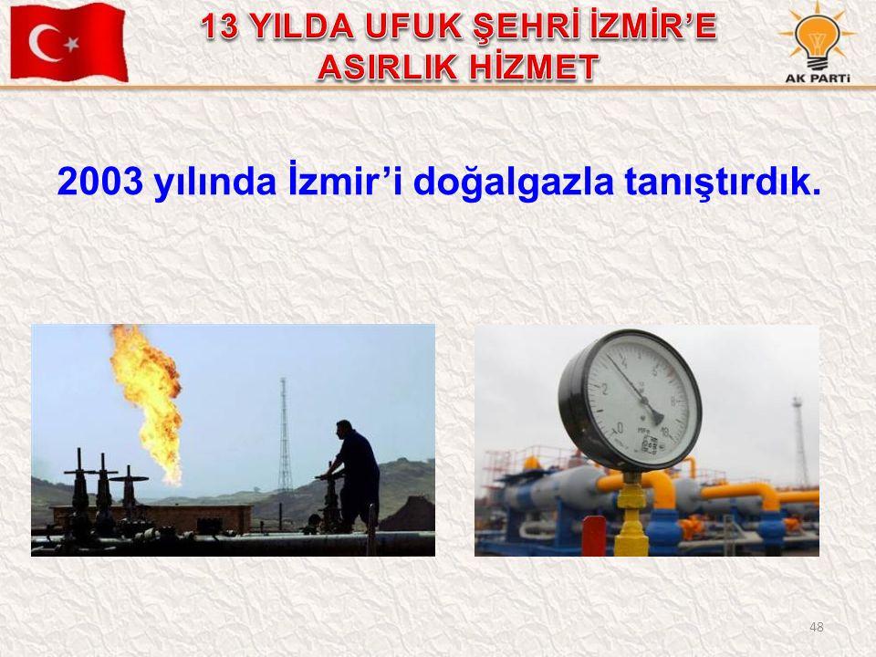 48 2003 yılında İzmir'i doğalgazla tanıştırdık.
