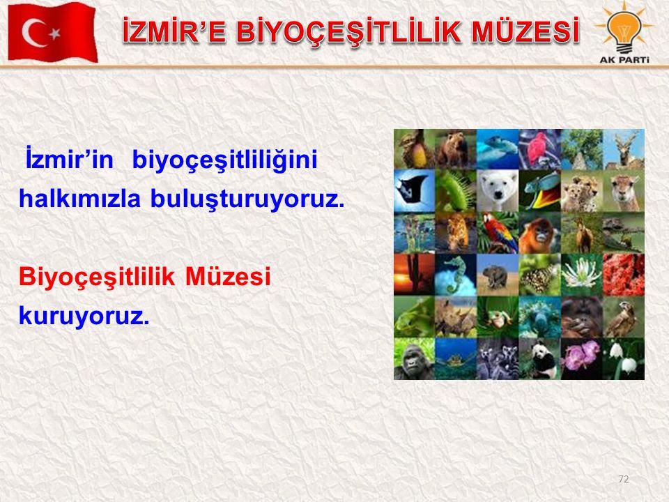 72 İzmir'in biyoçeşitliliğini halkımızla buluşturuyoruz. Biyoçeşitlilik Müzesi kuruyoruz.