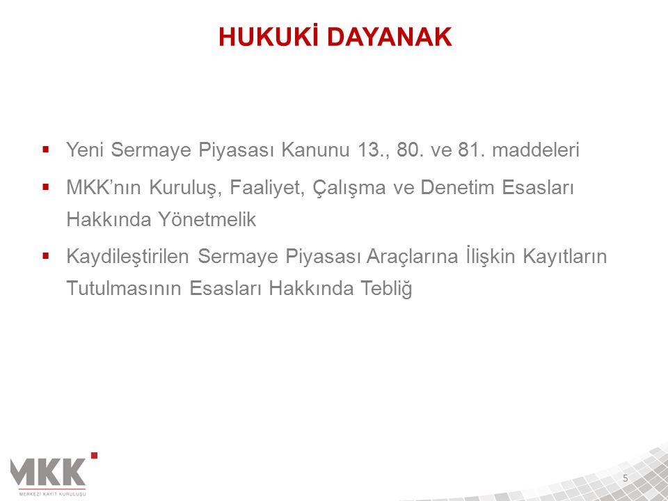 Kuruluşumuz;  Sermaye Piyasası Kurulu tarafından,  Kaydileştirilen sermaye piyasası araçlarının Merkezi Saklama Kuruluşu (Kasım.2005)  Türkiye'de açılan tüm finansal hesapların tutulduğu Finansal Hesaplar Merkezi (Ekim.2011)  Gümrük ve Ticaret Bakanlığı tarafından,  Elektronik ürün senetlerinin Elektronik Kayıt Kuruluşu (Aralık.2012)  Şirketlerin Bilgi Toplumu Hizmetleri için Merkezi Veri Tabanı Hizmet Sağlayıcısı (Ekim.2013)  Bilim, Sanayi ve Teknoloji Bakanlığı tarafından,  Dünya çapında ödüller kazanan yazılım geliştirme teknolojisi sayesinde Ar-Ge Merkezi (Kasım.2013) olarak yetkilendirilmiştir.