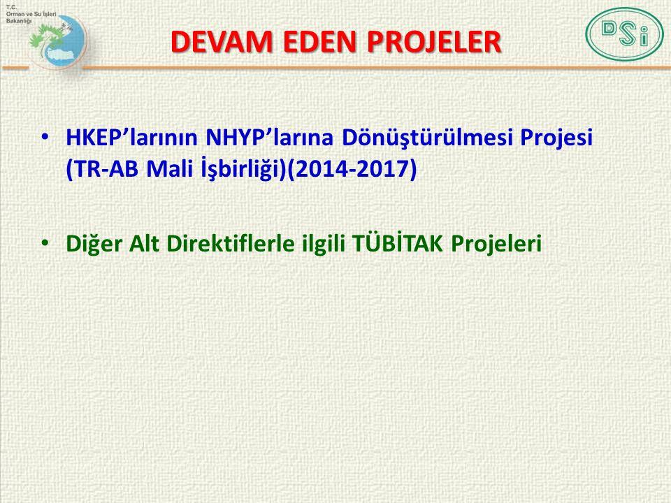 DEVAM EDEN PROJELER HKEP'larının NHYP'larına Dönüştürülmesi Projesi (TR-AB Mali İşbirliği)(2014-2017) Diğer Alt Direktiflerle ilgili TÜBİTAK Projeleri