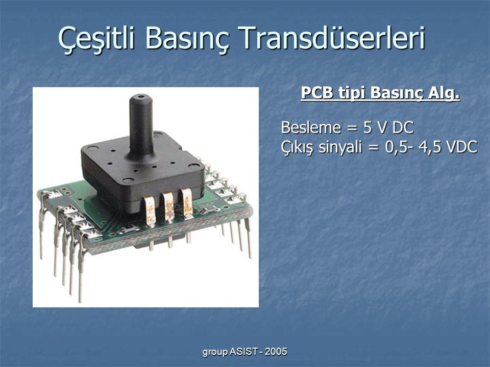 group ASIST - 2005 Çeşitli Basınç Transdüserleri PCB tipi Basınç Alg.