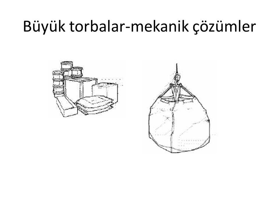 Büyük torbalar-mekanik çözümler