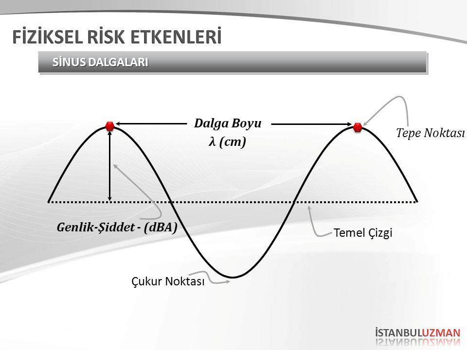 Genlik-Şiddet - (dBA) Tepe Noktası Temel Çizgi Çukur Noktası Dalga Boyu λ (cm)