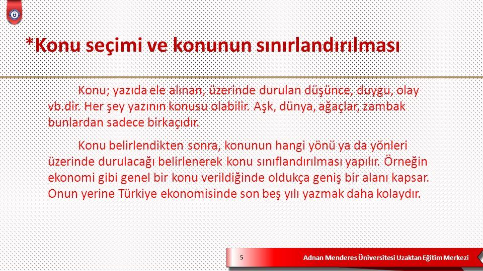 Adnan Menderes Üniversitesi Uzaktan Eğitim Merkezi 76 5)Aşağıdakilerden hangisi Türk edebiyatındaki ilk hikâye örneğidir.