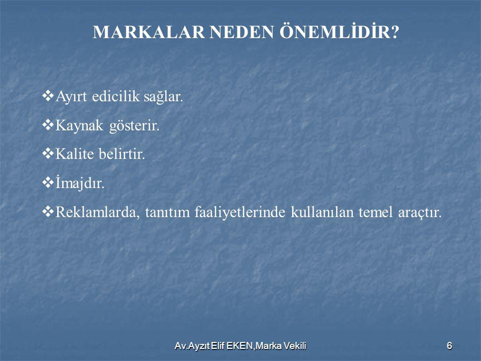 Av.Ayzıt Elif EKEN,Marka Vekili6 MARKALAR NEDEN ÖNEMLİDİR.
