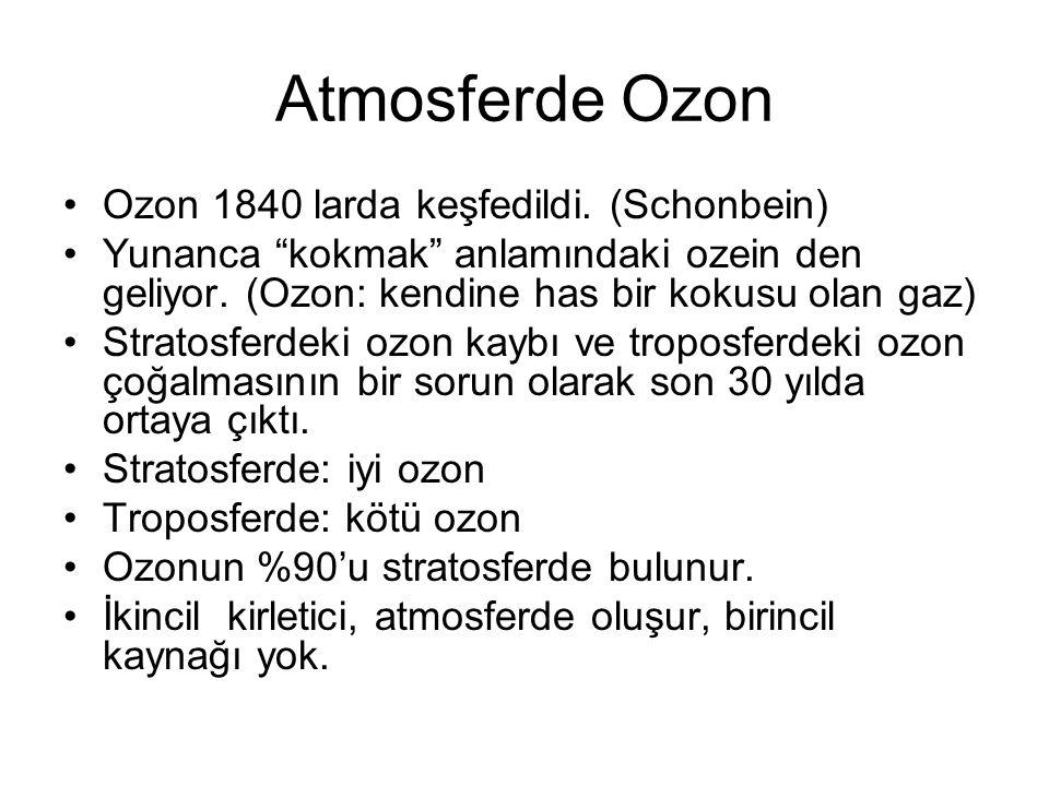 Atmosferde Ozon Ozon 1840 larda keşfedildi.