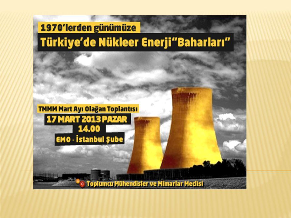 1999Yanangio3Peru Radyografi kaynağının şiddetli radyasyon yanıkları neden olduğu olay 1999Ikitelli3Türkiye Yüksek radyoaktiviteli Co-60 hammaddesinin kaybedilmesi 1999Ishikawa2Japonya Kontrol çubuğu arızası 1993Tomsk4Rusya Yeniden isleme santralinde oluşan patlama sonucu ciddi miktarda plütonyum ve radyoizotopları çevreye yayılmıştır.