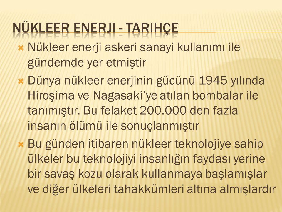  Mersin Akkuyu da yapılması planlanan nükleer santral için 1976 yılında verilen lisansa istinaden 2010 tarihinde Rusya ile Türkiye arasında nükleer güç santrallerinin kurulması için bir anlaşma imzalandı.