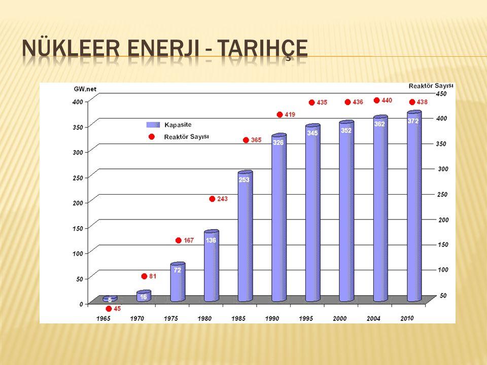  80'ler;  dünya ekonomisindeki yavaşlama ve fosil yakıt fiyatlarındaki düşüş, nükleer enerji talebindeki büyüme ivmesini azalttı.