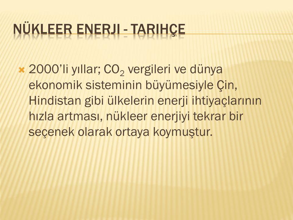  1989 yılında, Avrupa'da 177 olan santral sayısı 2013 yılı itibariyle 143'tür.