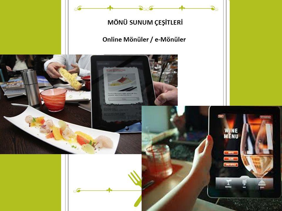 © Copyright Showeet.com MÖNÜ SUNUM ÇEŞİTLERİ Online Mönüler / e-Mönüler