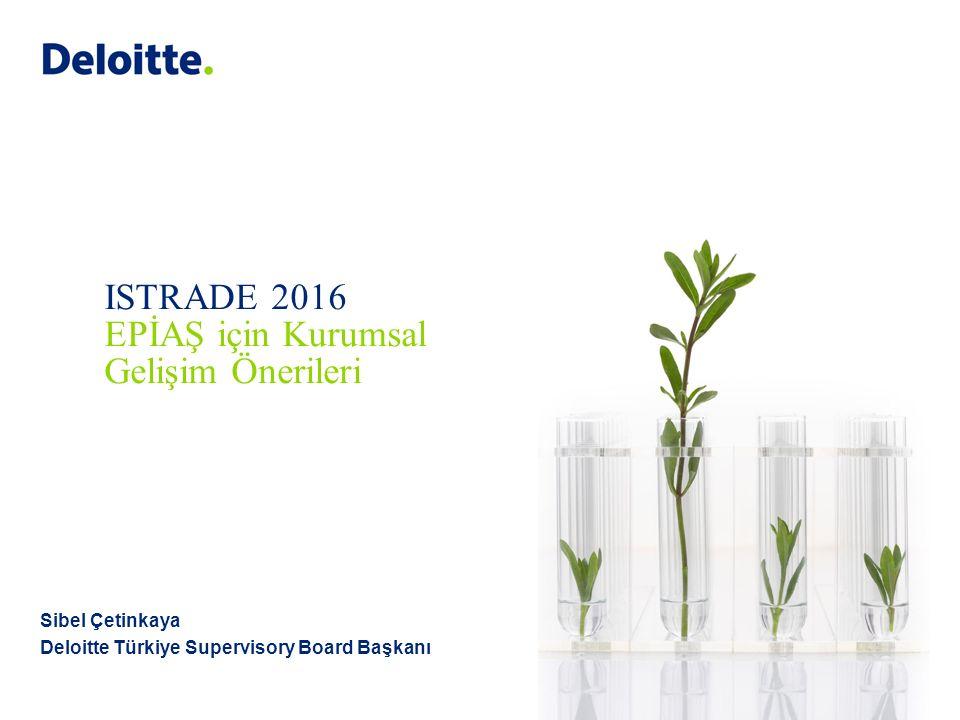 Sibel Çetinkaya Deloitte Türkiye Supervisory Board Başkanı ISTRADE 2016 EPİAŞ için Kurumsal Gelişim Önerileri