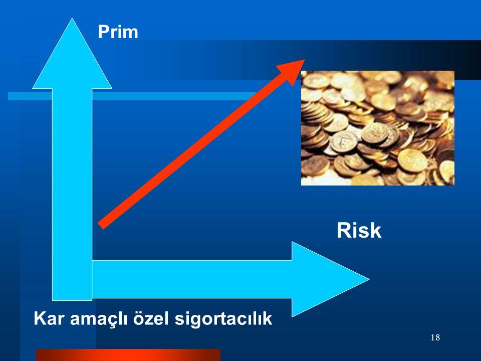 18 Prim Risk Kar amaçlı özel sigortacılık