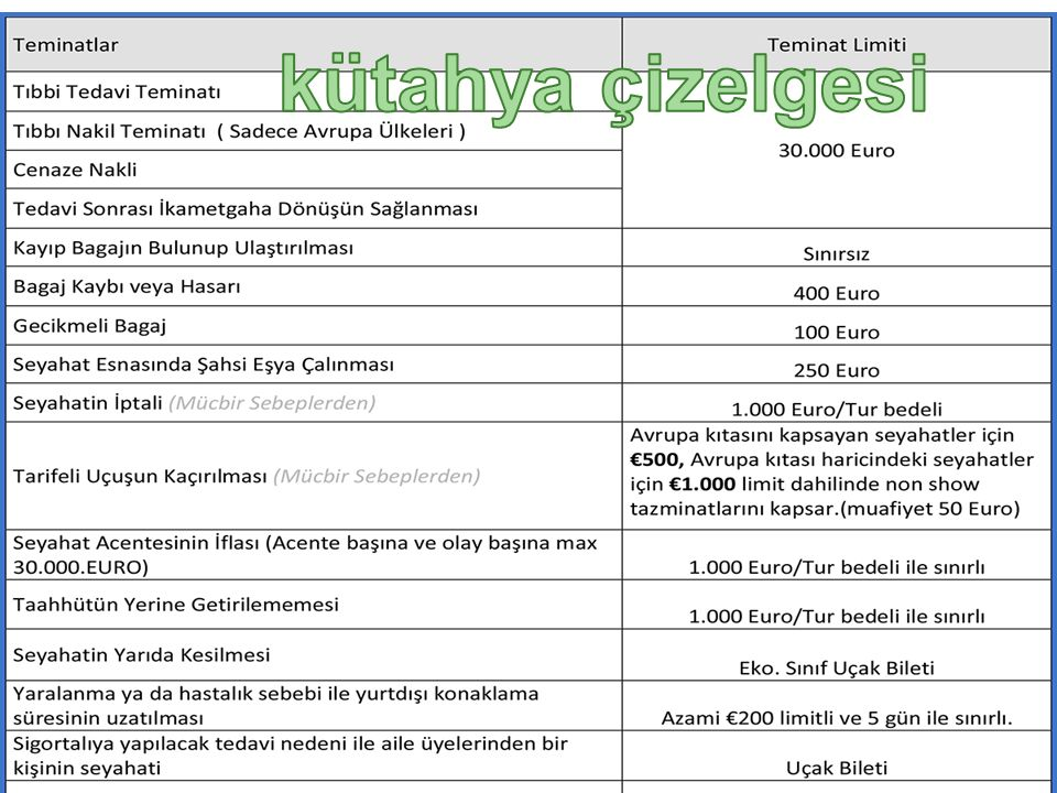 TÜRSAB Turizm Tüketicileri Talepleri Kütahya Çizelgesi AMACI VE NİTELİĞİ 1.