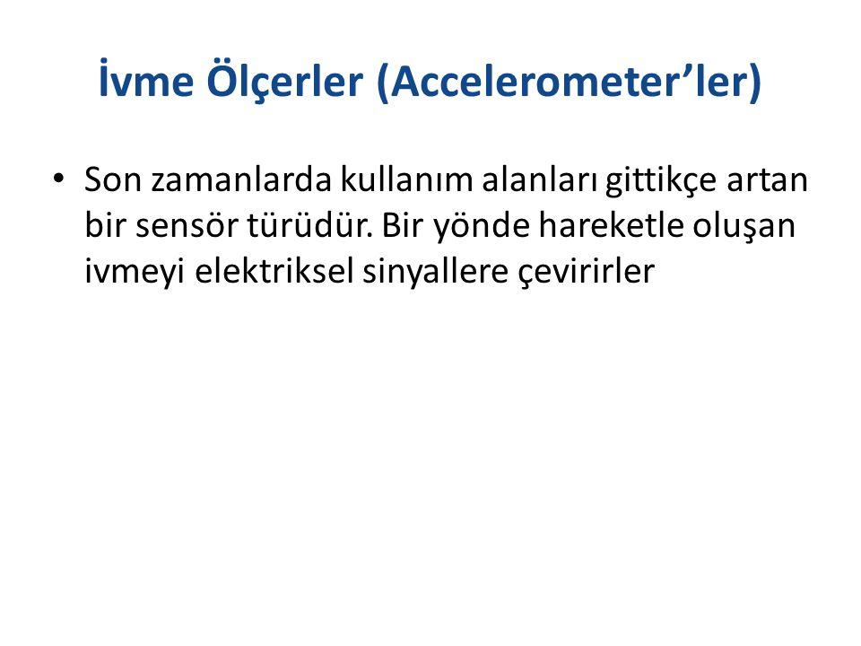 İvme Ölçerler (Accelerometer'ler) Son zamanlarda kullanım alanları gittikçe artan bir sensör türüdür.