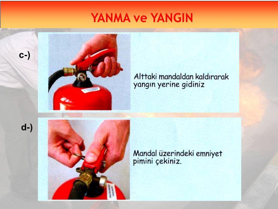 YANMA ve YANGIN c-) d-)