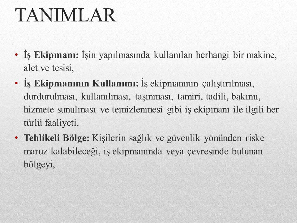 1.TEMEL SAĞLIK VE GÜVENLİK KURALLARI 1.1.