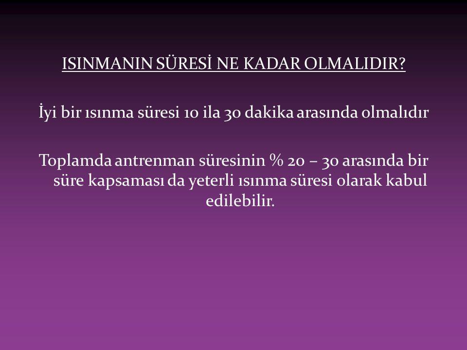 ISINMANIN SÜRESİ NE KADAR OLMALIDIR.