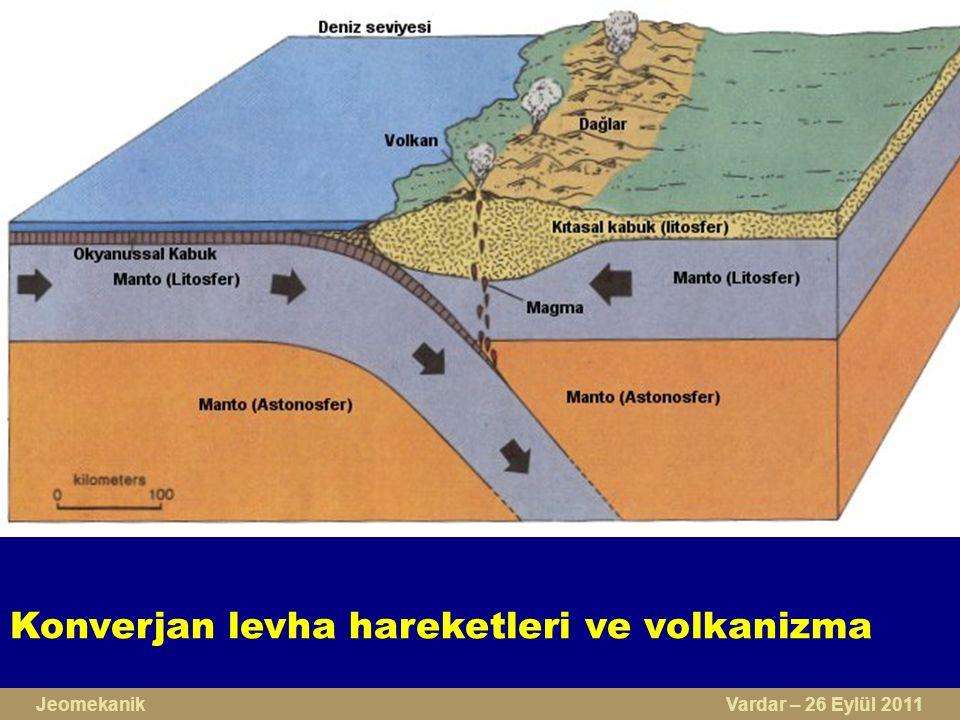 Konverjan levha hareketleri ve volkanizma Jeomekanik Vardar – 26 Eylül 2011