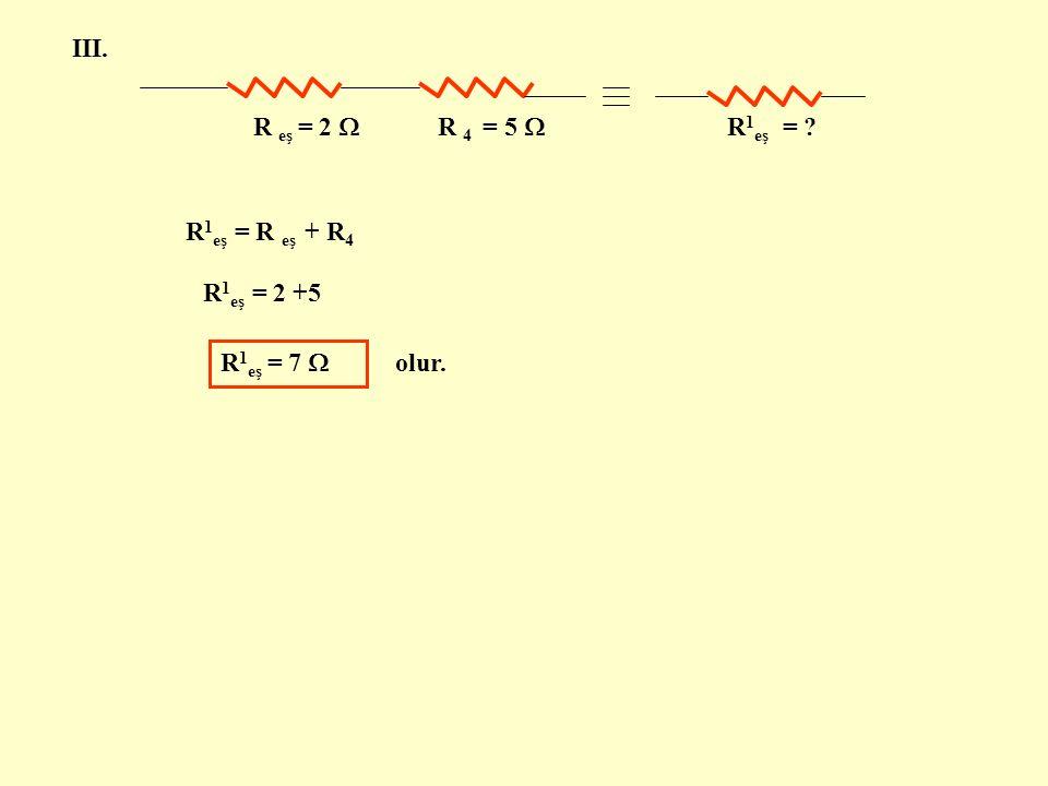 SORU 5 : Aşağıdaki devrede bağlı olarak verilen dirençlerin toplam direnç değerini bulunuz.