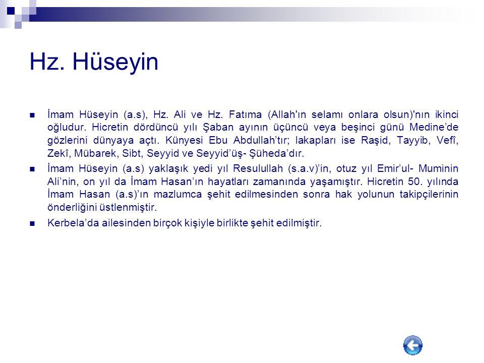 Hz. Hasan Peygamber efendimizin,