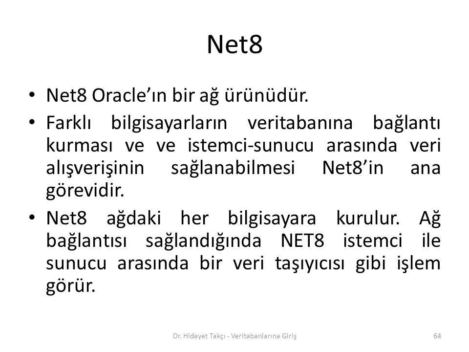 Net8 Net8 Oracle'ın bir ağ ürünüdür.