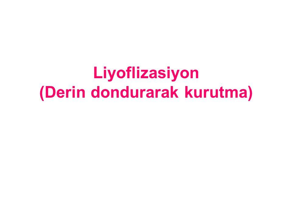 Liyoflizasiyon (Derin dondurarak kurutma)