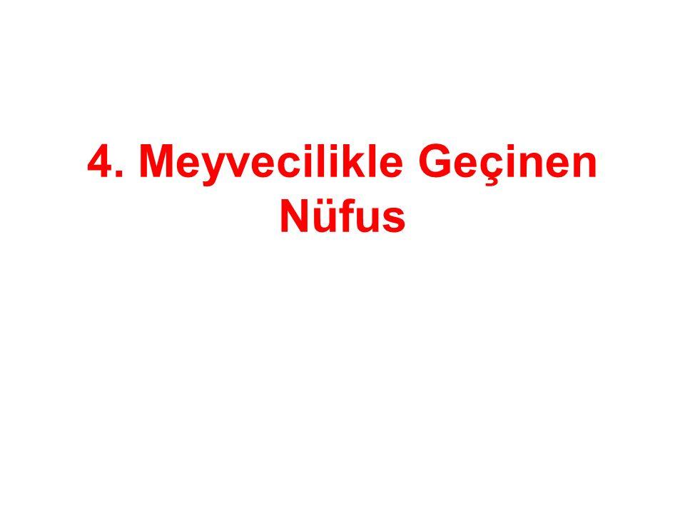 4. Meyvecilikle Geçinen Nüfus