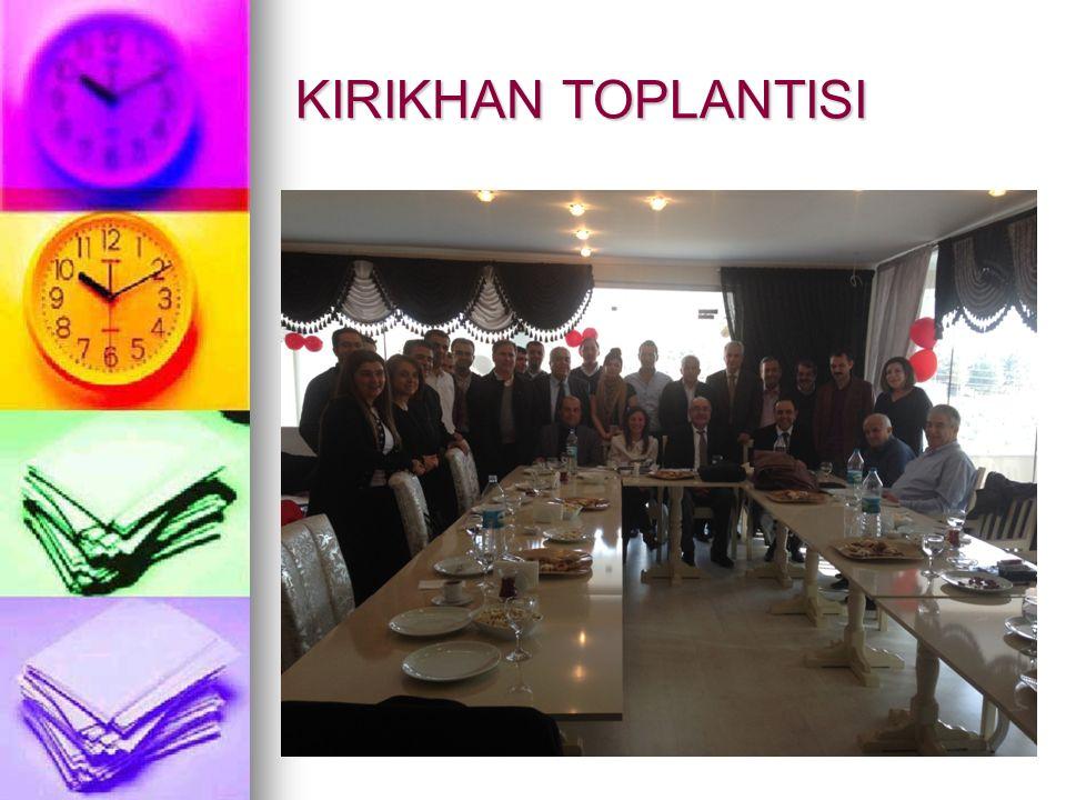 KIRIKHAN TOPLANTISI