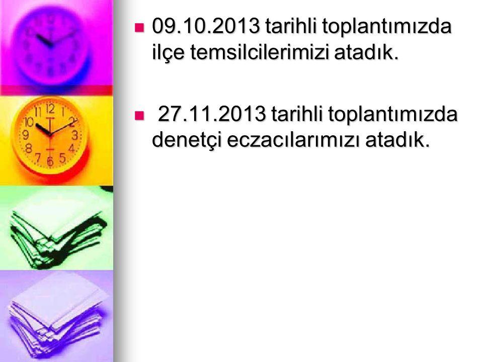 09.10.2013 tarihli toplantımızda ilçe temsilcilerimizi atadık.