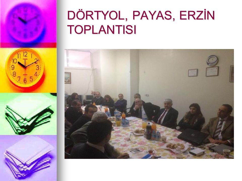 DÖRTYOL, PAYAS, ERZİN TOPLANTISI