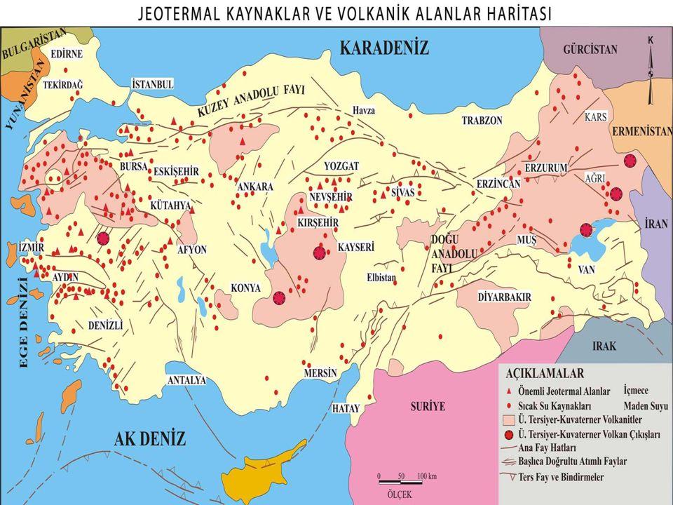 Türynn genc volknk alanları hartası