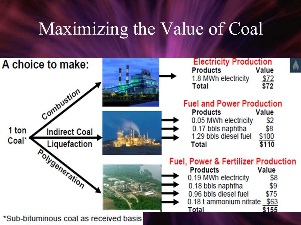 Maximizing the Value of Coal