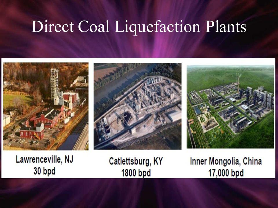 Direct Coal Liquefaction Plants