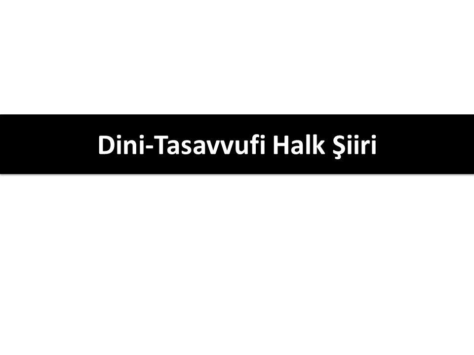 Dini-Tasavvufi Halk Şiiri