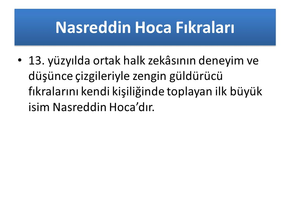 Nasreddin Hoca Fıkraları 13.