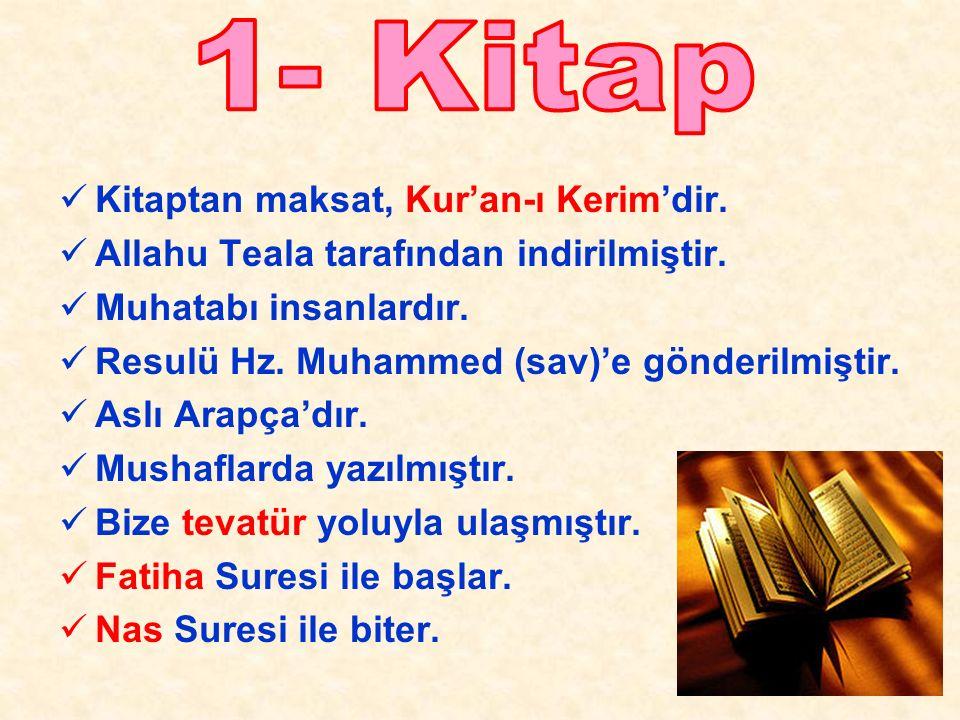 Kitaptan maksat, Kur'an-ı Kerim'dir. Allahu Teala tarafından indirilmiştir.