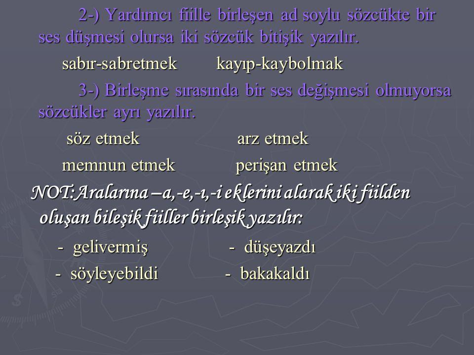 PEKİŞTİRMELERİN YAZIMI PEKİŞTİRMELERİN YAZIMI Kimi niteleme sıfatları örneklerle pekiştirilir.bu örnekler sözcüğe bitişik yazılır: Kimi niteleme sıfatları örneklerle pekiştirilir.bu örnekler sözcüğe bitişik yazılır: - bembeyaz - apaçık - masmavi - bembeyaz - apaçık - masmavi - tertemiz - yapayalnız -sırılsıklam - tertemiz - yapayalnız -sırılsıklam İKİLEMELERİN YAZIMI İKİLEMELERİN YAZIMI İkilemeler ayrı yazılır, araya herhangi bir noktalama işareti getirilemez: İkilemeler ayrı yazılır, araya herhangi bir noktalama işareti getirilemez: doğru dürüst akıllı uslu baş başa doğru dürüst akıllı uslu baş başa boşu boşuna demet demet irili ufaklı boşu boşuna demet demet irili ufaklı İ