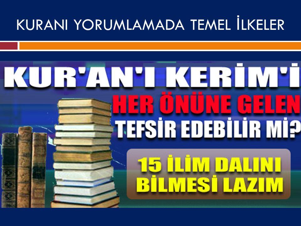  Kur'an insanın anlayabilece ğ i bir kitaptır.