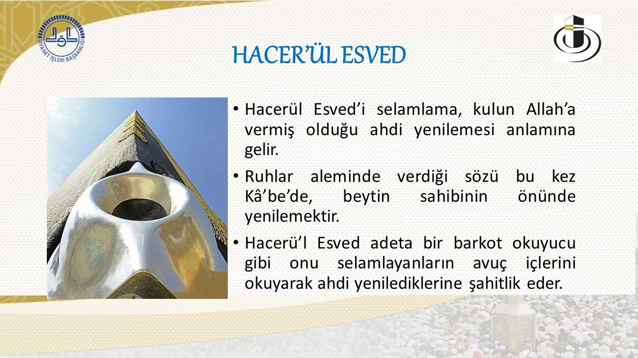 HACER'ÜL ESVED Hacerül Esved'i selamlama, kulun Allah'a vermiş olduğu ahdi yenilemesi anlamına gelir.