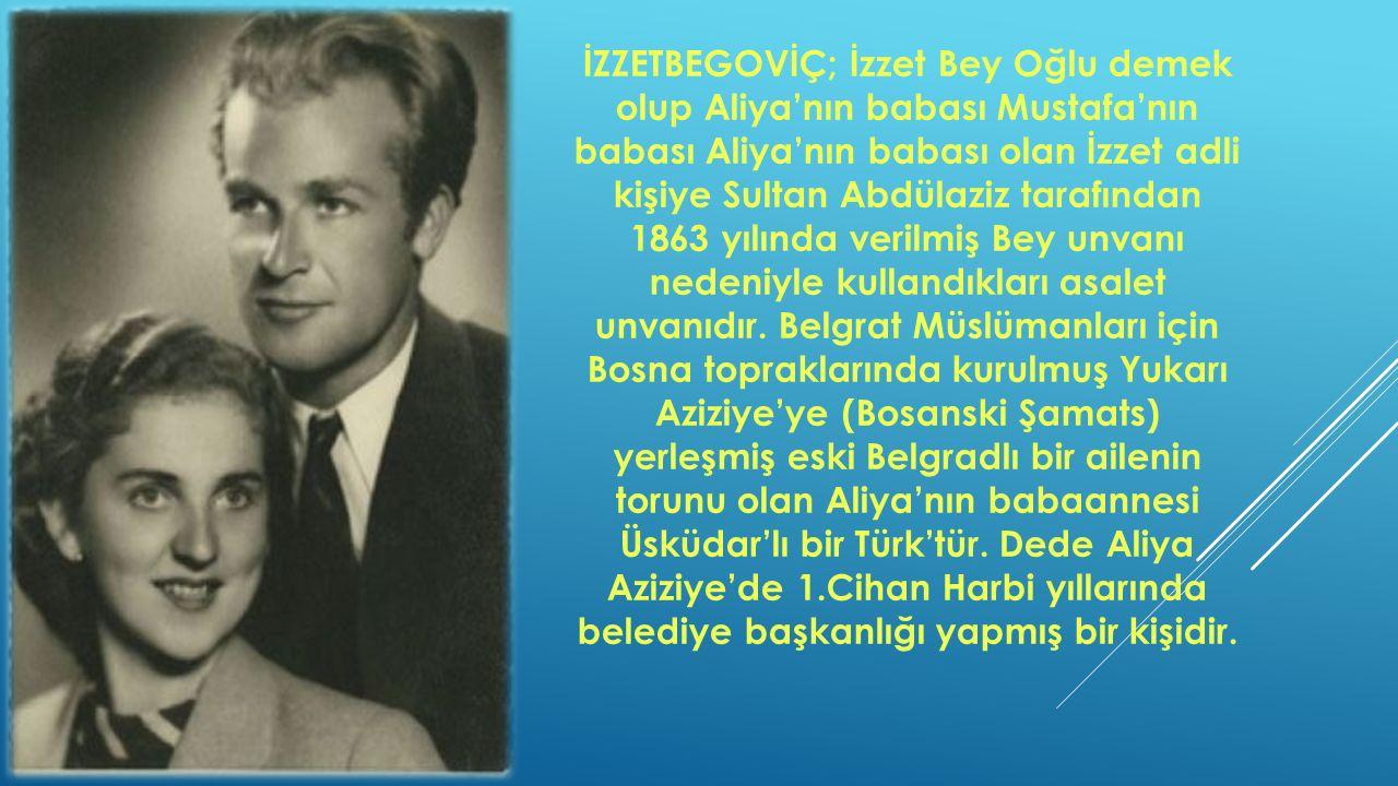 Aile daha sonra Saraybosna'ya taşınmış ve Aliya lise ve üniversite tahsillerini burada yapmıştır.