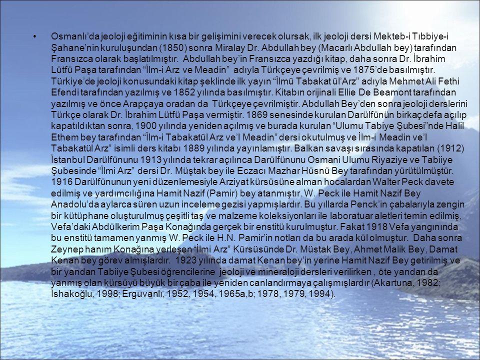 Bir diğer örnek olarak İbrahim Hakkı Erzurumlu nun Maarifetname sinde volkanik depremler: Yerin altında sallanan duman, arzın ağırlığı ile sıkışsa arzın dışına çıksa ol yer hareket eder ki zelzeleyi zemin bulur.
