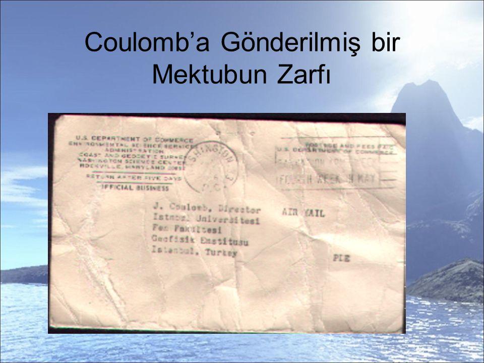 Coulomb'a Gönderilmiş bir Mektubun Zarfı