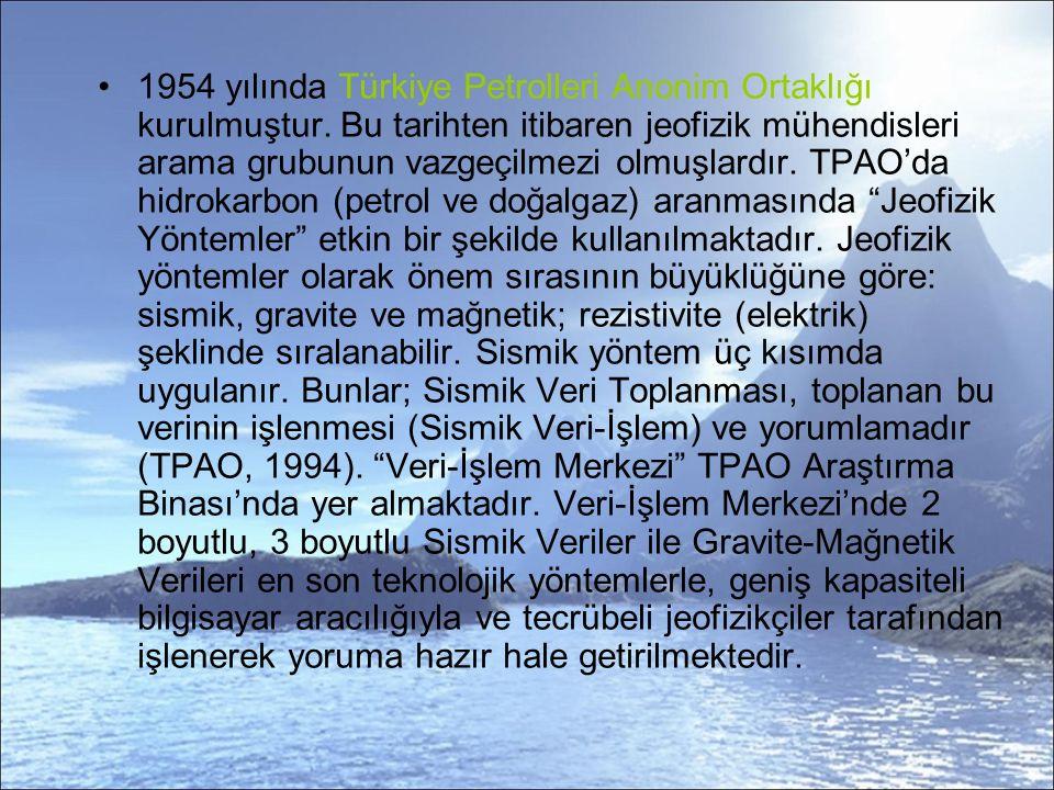 1954 yılında Türkiye Petrolleri Anonim Ortaklığı kurulmuştur.