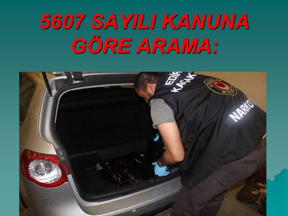 5607 SAYILI KANUNA GÖRE ARAMA:
