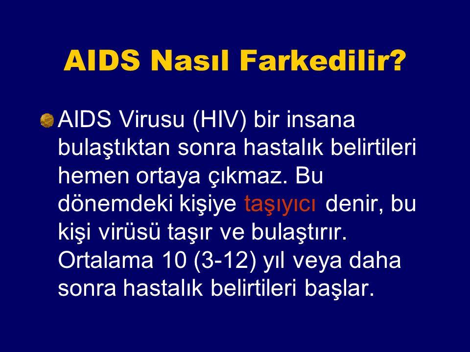 AIDS Nedir. AIDS, bulaşıcı ve ölümcül bir hastalıktır.