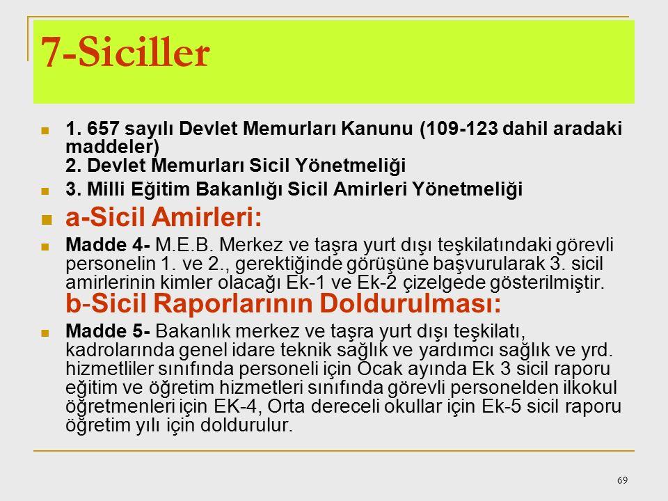 68 4357 sayılı İlkokul Öğretmenlerinin Kadrolarına, Terfi,Taltif ve Cezalandırılmalarına ve Öğretmenlerin Alacaklarına Dair Kanun b) Vazifelerini yapm