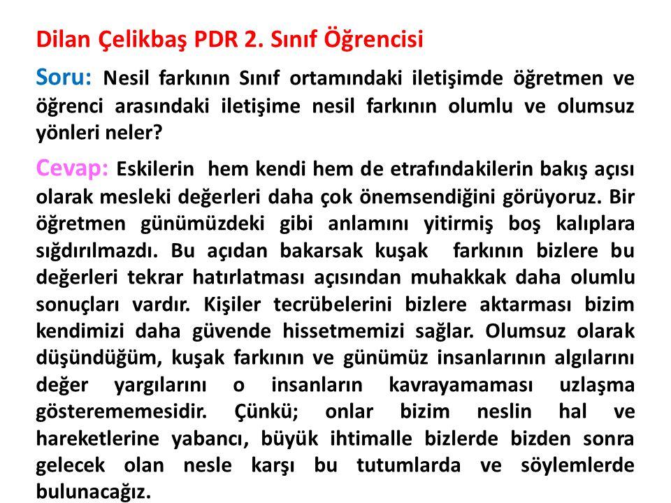Dilan Çelikbaş PDR 2.