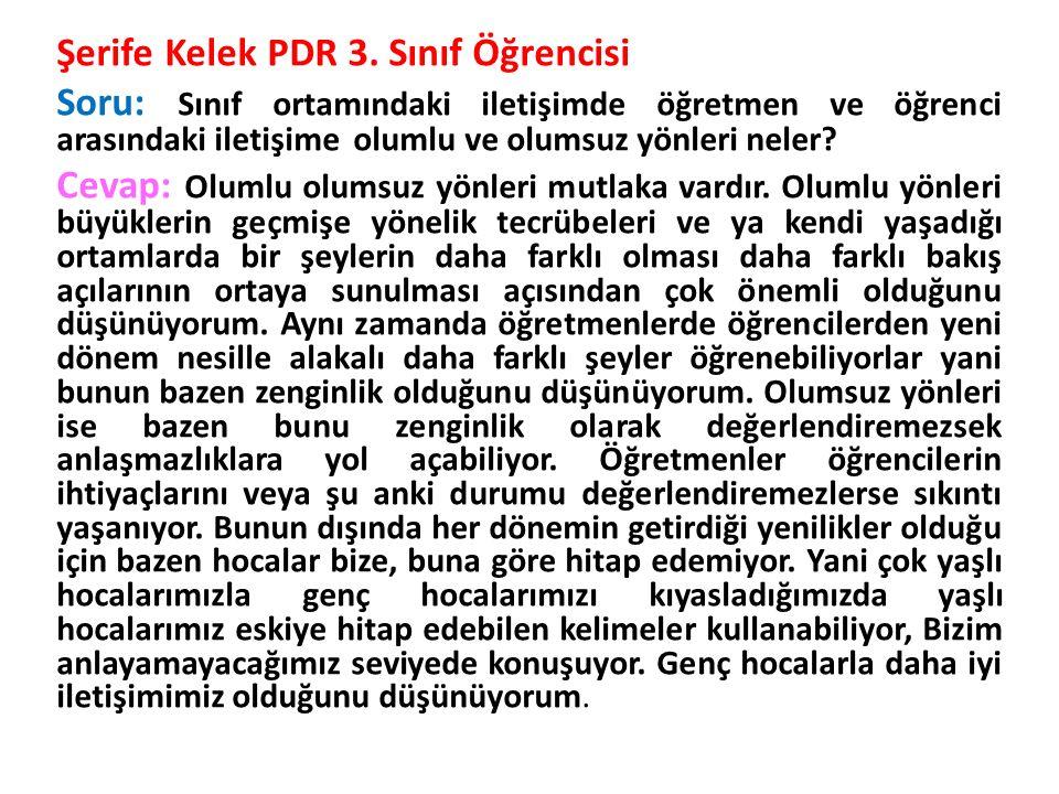 Şerife Kelek PDR 3.